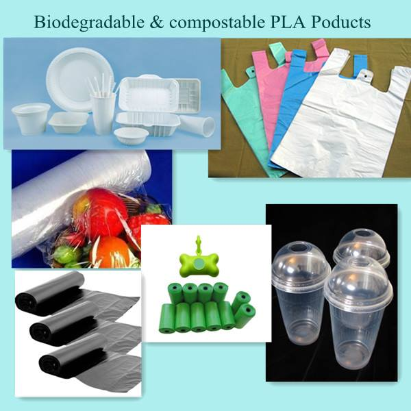 raw materials for making biodegradable & compostable PLA products